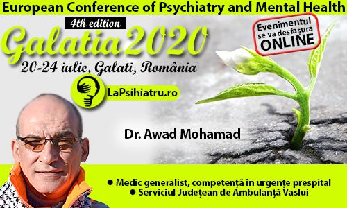 Galatia 2020. Dr. Awad Mohamad: Medicina de urgență în pandemie
