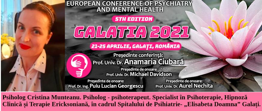 Psiholog Cristina Munteanu Galatia 2021
