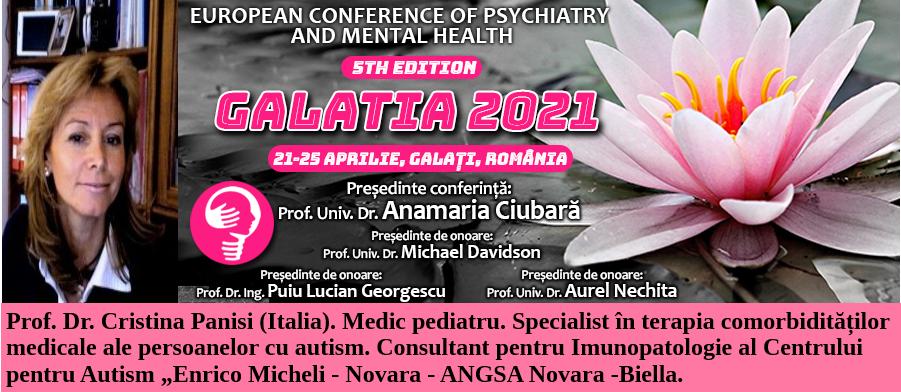 """Prof. Dr. Cristina Panisi, la Conferința Europeană de Psihiatrie și Sănătate Mintală """"Galatia 2021"""""""